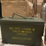 Lake City 5.56 / 223 Rem M856 Tracer Ammunition 64 Grain