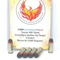 10MM ACP Incendiary/Tracer ammunition