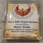 7.62x54r Match Grade API Incendiary / Target Spotter Ammo