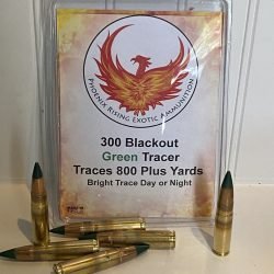 300 Blackout Phoenix Rising Green Tracer Ammo