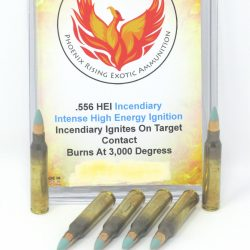 HEI High Energy Ignition Incendiary Rifle Ammo – 223 / 556, 7.62×39, 300 Blackout and 308 / 7.62×51