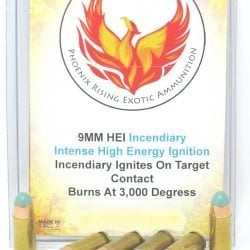 HEI High Energy Ignition Incendiary Pistol Ammo – 9mm 40 S&W 10mm 45ACP