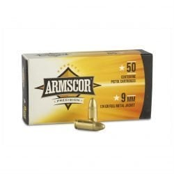 Armscor 9mm Brass FMJ 115 / 124 Grain – Full Metal Jacket