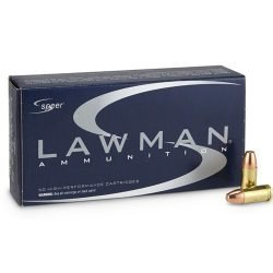 Speer Lawman Brass 9mm Luger Ammo 124 Grain Total Metal Jacket – 50 Rounds