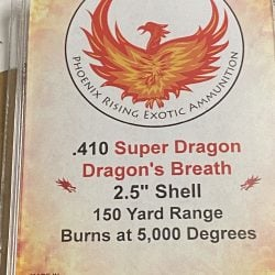 "410 Gauge ""Super Dragon"" Dragon's Breath Ammunition"