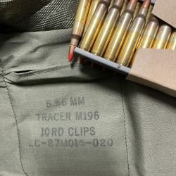 Lake City 5.56 / 223 Rem M196 Tracer Ammunition 55 Grain – 140 Round Bandolier