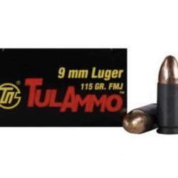 Tula 9mm Steel 115gr Ammo – 50 round boxes