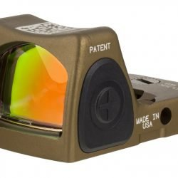 Trijicon RMR HRS Type 2 Reflex Red Dot Sight Adjustable LED 3.25 MOA Red Dot Hard Anodized Coyote Brown