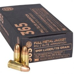 Sig Sauer 365 9mm Elite FMJ Ammo – 50 Rounds
