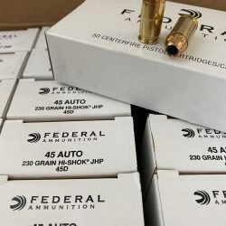 Federal 45 Auto 230 Grain HI-SHOK JHP – 50 Rounds
