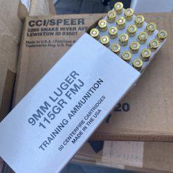 CCI SPEER 115gr 9mm Brass Ammo – 50 Round Box