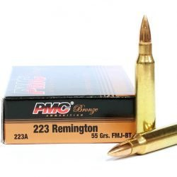 PMC Bronze 223 55gr FMJ-BT Ammo **FREE SHIPPING FOR CASES**