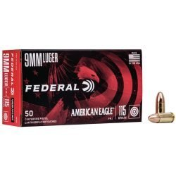 Federal 9mm Luger AE9DP 115 Grain Ammo – 50 Round Boxes