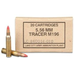 Lake City 5.56 / 223 Rem M196 Tracer Ammunition 55 Grain