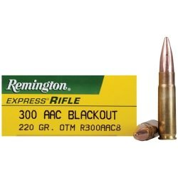 Remington 300 AAC Blackout, Subsonic Open Tip Match (OTM), 220 GRAIN – 20 Rounds per Box