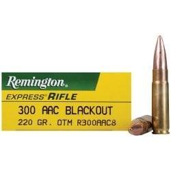 Remington 300 AAC Blackout, Subsonic Open Tip Match (OTM), 220 GRAIN – 20 Rounds per Box