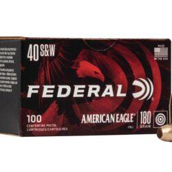 Federal 40 S&W AE40R100 180 Grain Ammo – 100 Round Boxes