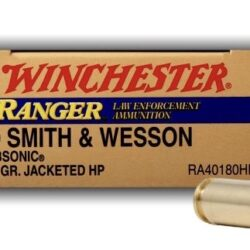 Winchester Ranger 40 S&W 180 GR SUBSONIC JHP (RA40180HP)
