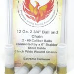 12 Gauge 2 3/4″ Ball And Chain Ammunition bolo  – 5 Pack