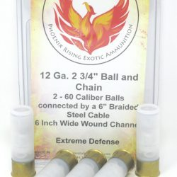 Phoenix Rising 12 Gauge 2 3/4″ Ball And Chain Ammunition bolo  – 5 Pack