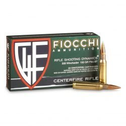 Fiocchi Shooting Dynamics .308 Win Ammunition 150 Grain FMJ BT 2890 fps – 20 Round Box 308A