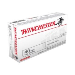 Winchester USA 40 S&W 180 Grain Full Metal Jacket Q4248 – 50 around Boxes