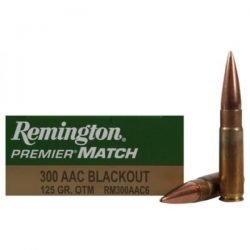 Remington Premier March 300 Blackout 125gr OTM RM300AAC8 – 20 Rounds per Box