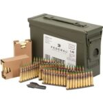 Federal XM855 420 62gr Green Tip Rounds on Stripper Clips in Sealed 30-Cal Ammo Can
