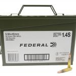 Federal XM193ML1 5.56 Nato Ammo Can 55 GR FMJ 400 Rounds