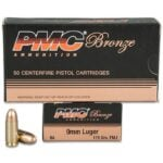 PMC Bronze 9mm 115 Grain FMJ Brass 9A **FREE SHIPPING FOR 2+ CASES**