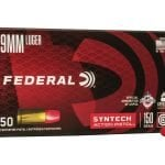 Federal 9mm 150 gr TSJ Subsonic Syntech Action Pistol 50/Box