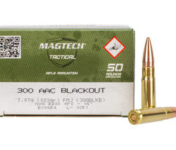 MagTech 300 AAC Blackout FMJ 123 Grain Supersonic Full Metal Jacket – 50 Round Box