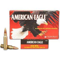 Federal AE308D American Eagle 308 150 GR FMJ BT – 20 Rounds per Box