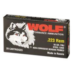 Wolf 223 Rem 55gr Steel Case Ammo