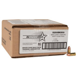CCI Independence 9mm Luger Brass Ammo 115 Grain FMJ 1000 Rounds Bulk Loose Pack