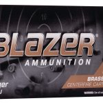 CCI Ammunition Blazer Brass 9mm Luger 124 grain Full Metal Jacket Centerfire Pistol Ammunition