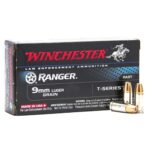 Winchester Ranger 9mm Luger 147 Grain T-Series Jacketed Hollow Point