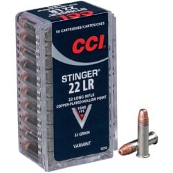 CCI Stinger 22 Long Rifle 32gr CPHP Rimfire Ammo