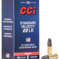 CCI Standard Velocity 22 LR 40 Grain Lead Round Nose Ammo, Model 35