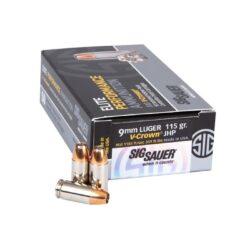 Sig Sauer 9mm 115 Elite V-Crown JHP Defensive – 50 Round Box