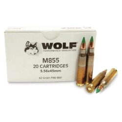 Wolf Gold Brass 5.56mm M855 NATO Ammo 62 Grain Full Metal Jacket **FREE SHIPPING FOR CASES**