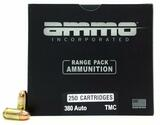 Ammo Inc Signature 380 Auto 124gr Brass TMC – 250 Rounds