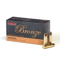 PMC Bronze Line .38 Special 132 Grain Full Metal Jacket – 50 Round Box