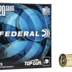 Federal Top Gun 20 Gauge Ammunition 2-3/4″ #7.5 Shot 7/8 Oz 1210 FPS 20Ga