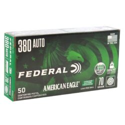 Federal American Eagle IRT 380 ACP Auto Ammo 70 Grain Lead Free Full Metal Jacket FMJ – 50 Round Box