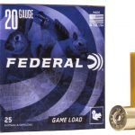 "Federal 20 Gauge 2.75″ 7/8oz #6 ""Game-Shok"" Game Load Lead Shotshells H200 6 20Ga"