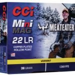 CCI Mini-Mag Meat Eater 22 LR 36 gr Hollow Point 962ME – 300 Rounds