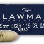 CCI Speer Lawman 9mm Luger Ammunition 53650 115 Grain TMJ – 50 Rounds