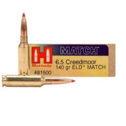 Hornady Match 6.5 Creedmoor 140gr ELD 81500