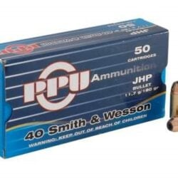 Prvi PPU 40 S&W PPR401 180 Grain Jacketed Hollow Point JHP **FREE SHIPPING FOR CASES**